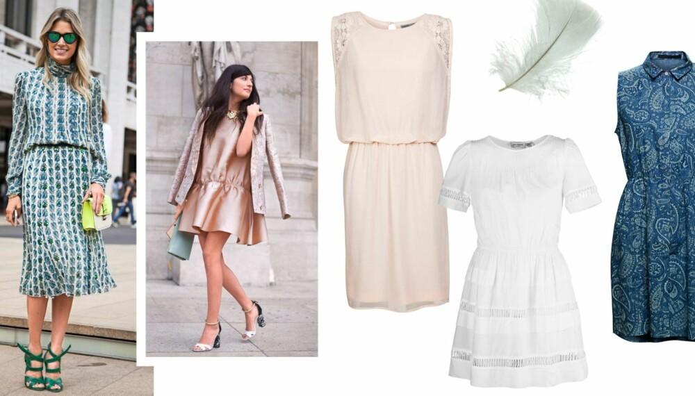 SE MIN KJOLE: Vekk sommerfølelsen i kjoler med hint av sesongens farger og trender.