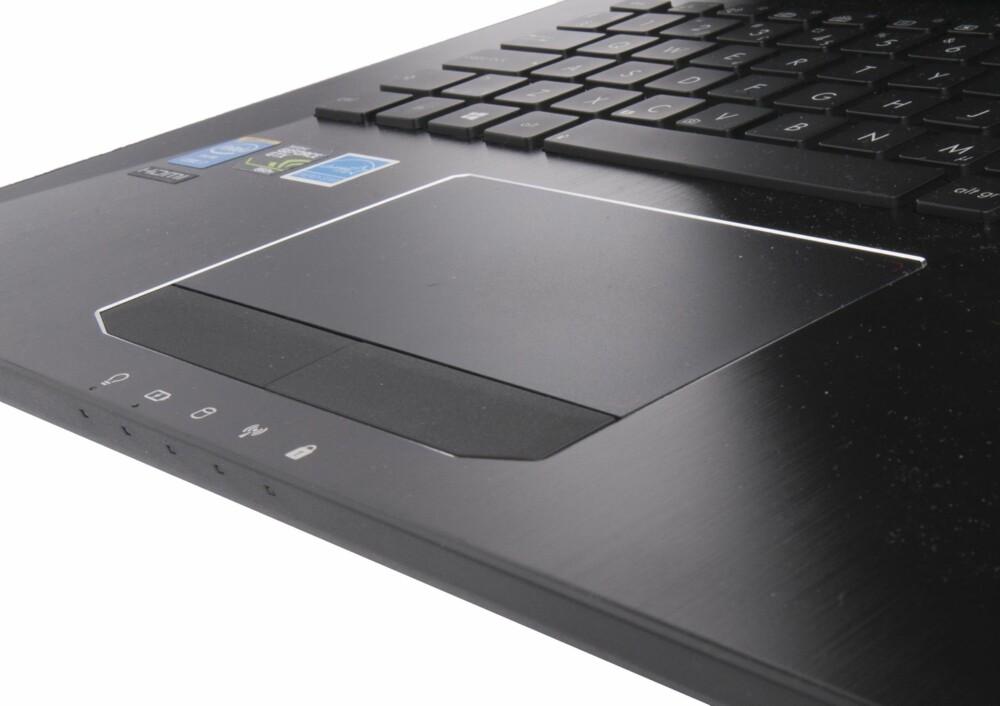 SUPERT: Tastaturet og pekeplaten, med helt separate museknapper, er en fryd  å bruke.
