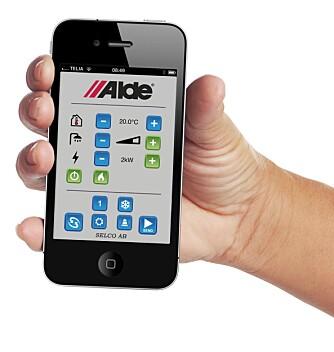 FJERNSTYRING: Med Aldes app kan varmeanlegget i bobilen fjernstyres. FOTO: Alde
