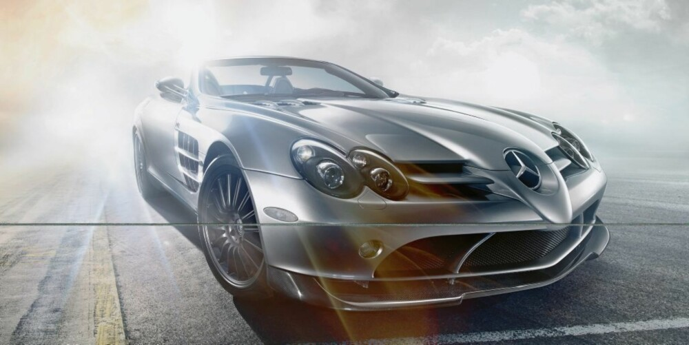 b60c7701 Supersjelden McLaren SLR. 650 hester, karosseri i karbon og nedfellbart tak  – det er oppskriften når Mercedes-Benz og McLaren bygger superkabrioleten  SLR ...