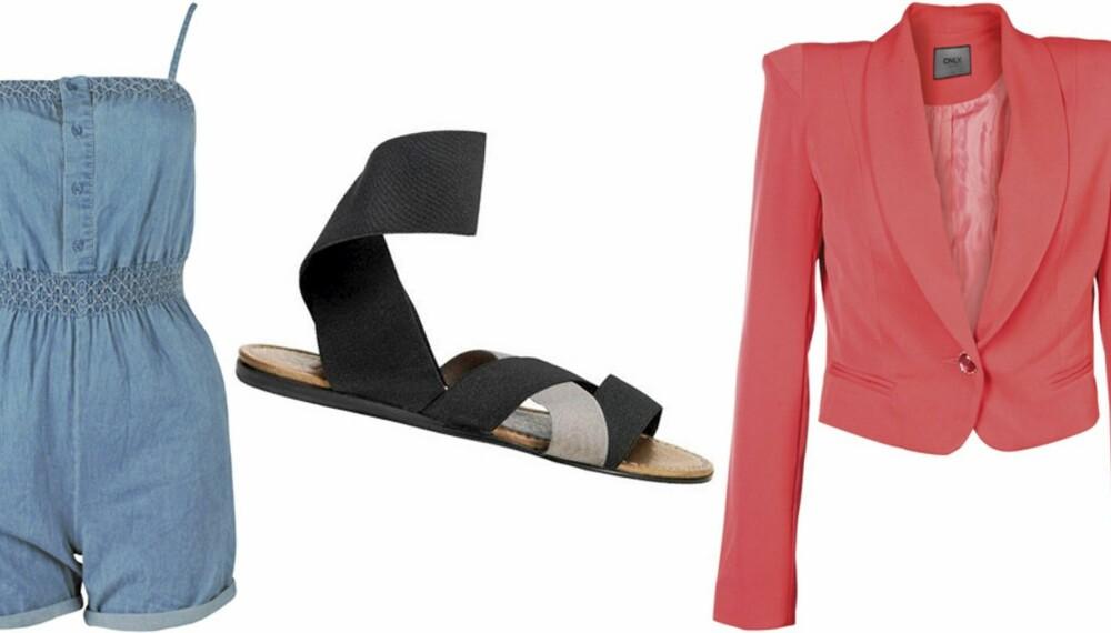 SOMMERMOTE: Ta på deg en playsuit, flate sandaler og korallfargede klær i sommer.