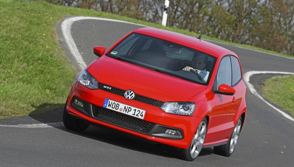 TØFFERE: Polo GTI har små, men viktige endringer som skiller den fra en vanlig Polo. Foto: VW