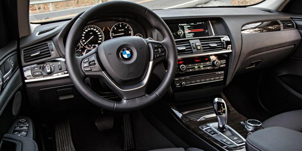 BEDRE KVALITET: Nye BMW X3 har høyere kvalitet på interiøret enn forgjengeren. FOTO: BMW