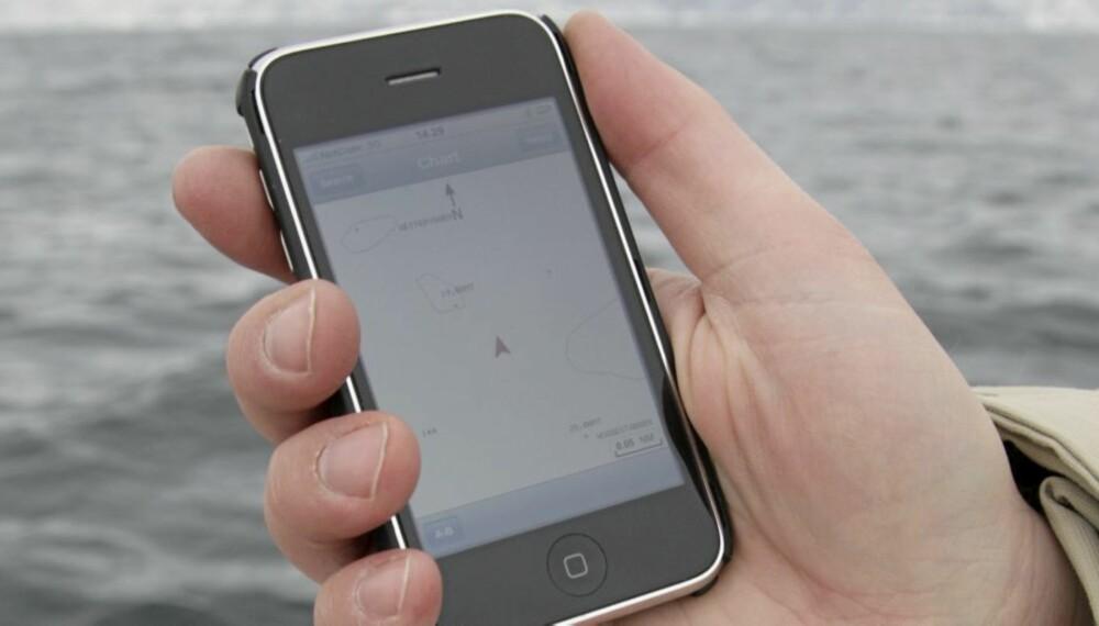 ALLBRUKSMASKIN: Apple iPhone kan nå også brukes til å finne veien til sjøs.
