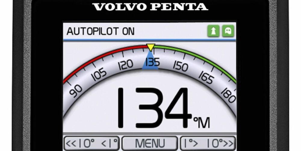 AUTO: Som en del av systemet lanseres også en integrert autopilot. FOTO: Volvo Penta