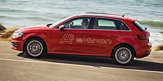LADBARE HYBRID: Over 700 nordmenn har allerede bestilt Audi A3 e-tron Sportback som kommer i november. Det betyr at Audi har solgt over 40 biler om dagen siden salget startet 12. august. FOTO: Audi