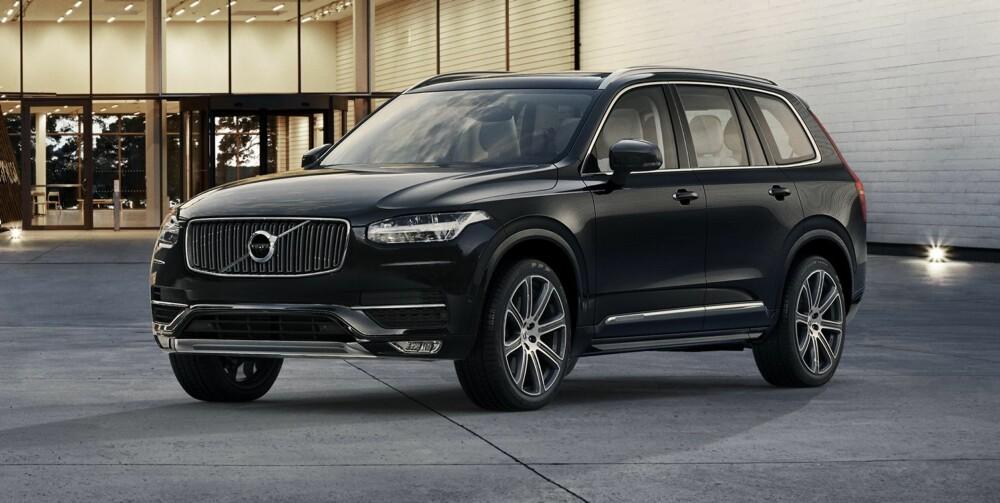 TORS HAMMER: T-formen på LED-lysene skal bli et Volvo-kjennetegn også på andre kommende Volvo-modeller. Volvo snakker mye om at de nå går tilbake til sine svenske røtter, og T-en kaller de Tors hammer. FOTO: Volvo
