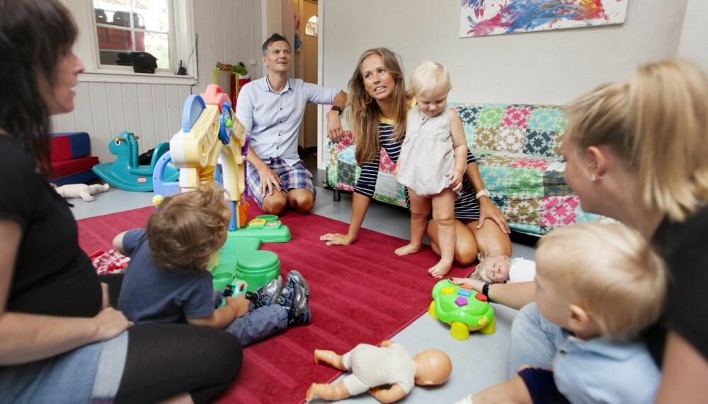Sigrun og Tom ville begge være med på Martinus sin første dag i barnehagen. - Vi har ikke noen forventninger om hvordan tilvenningen blir, men tar en dag av gangen. Illustrasjonsfoto.