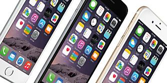 IPHONE: iPhone 6 kommer i to ulike størrelser.