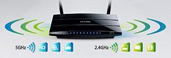 Ofte anbefales 2,4 GHz til surfing og mail, mens 5 GHz anbefales til streaming av film og musikk, spilling og videosamtaler.