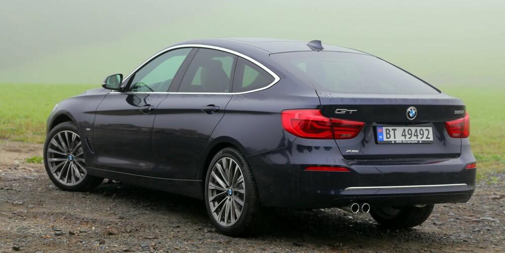 MYE DEKKSTØY: BMW 3-serie Gran Turismo er en komfortabel milsluker, men vi plages av mye dekkstøy.