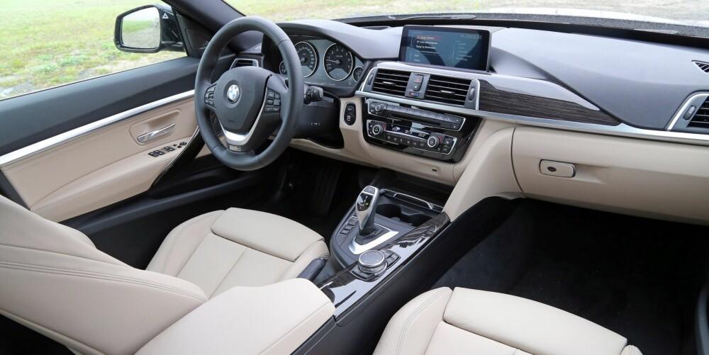 STEG OPP: Faceliften har gitt mer moderne utstyr og siste nytt på elektronikkfronten. Som alltid er det lett å trives bak rattet i en BMW.