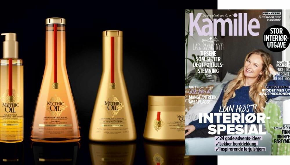 SVAR & VINN: Syv heldige vinnere får hårpleieserien Mytihc Oil fra L'Oréal Professionnel.