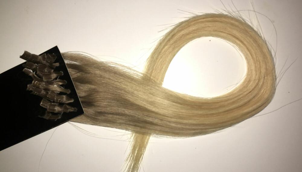 LØSHÅR: Ønsker du deg langt og fyldig hår, kan extension være løsningen. FOTO: Jenny Mina Rødahl