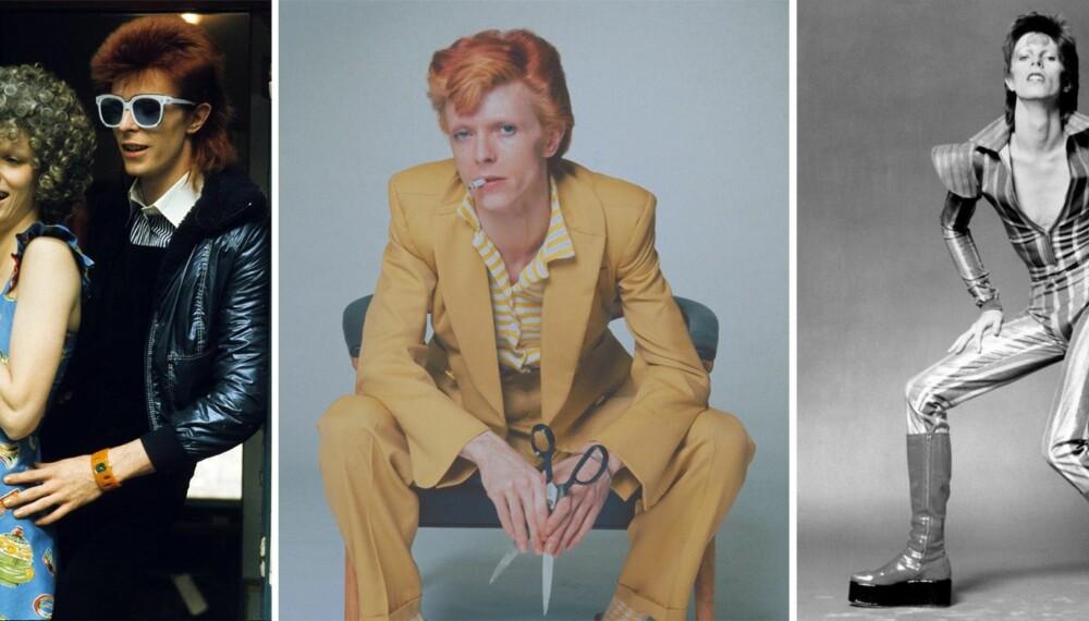 DAVID BOWIE: ROCKESTJERNE OG MOTEIKON: Søndag døde David Bowie av kreft, 69 år gammel. Selv om han først og fremst var rockestjerne, var han også et av tidenes største moteikoner.
