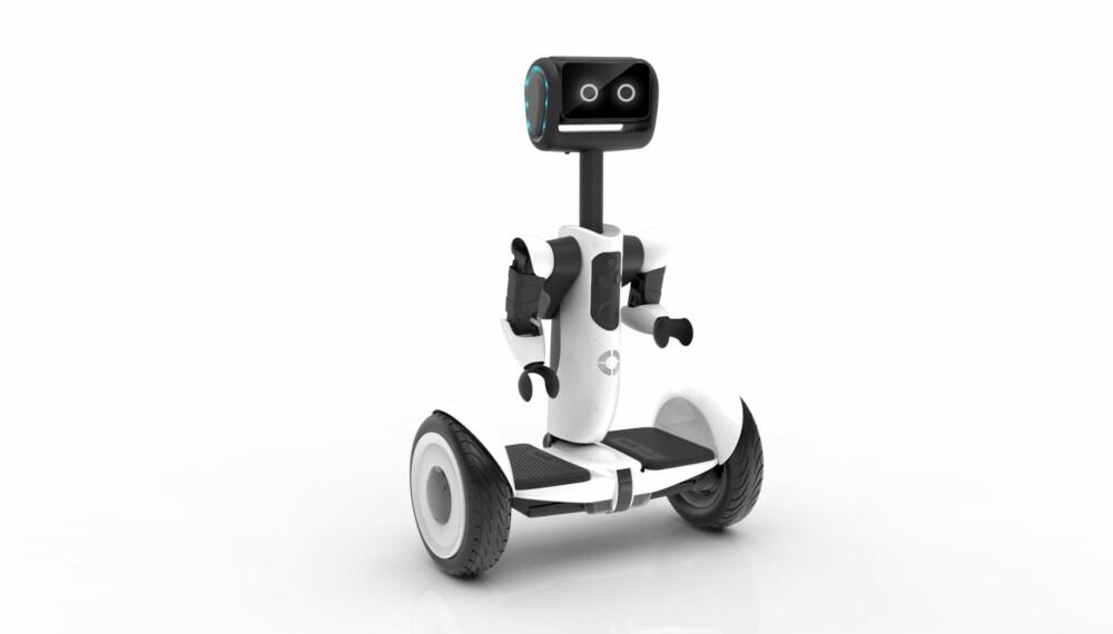 SØT: Segway Advanced Personal Robot kan både følge etter deg og styres fra mobilen. I tillegg fungerer den som et kjøretøy.