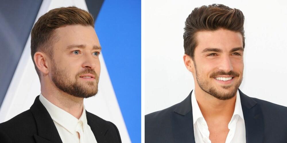 """INSPIRASJON: Både Justin Timberlake og modell og herremoteblogger Mariano Di Vaio trivs godt i """"The Quiff""""-klippen."""