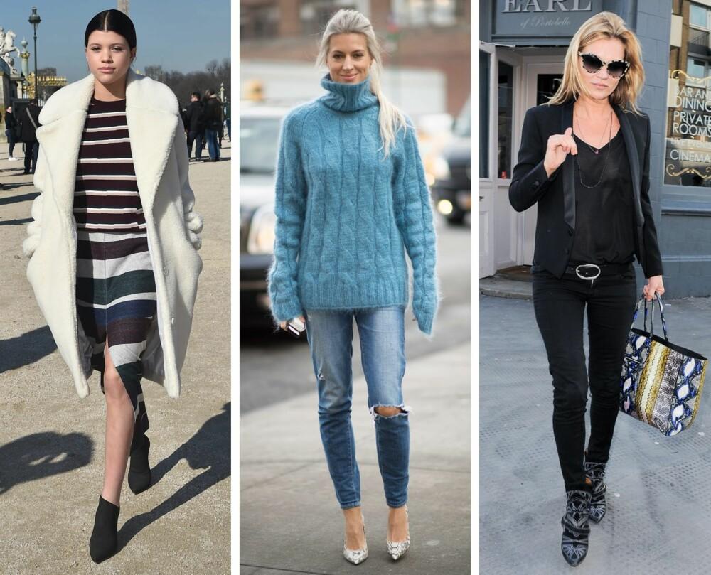 """SUPRE TIPS: Horisontale striper, lodne strikkegensere og lave bukser med belte kan hjelpe deg å """"jukse"""" deg til større former."""
