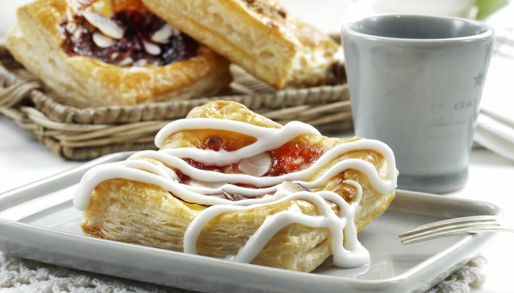ALLTID POPULÆRT: Wienerbrød er en klassiker til kaffen.