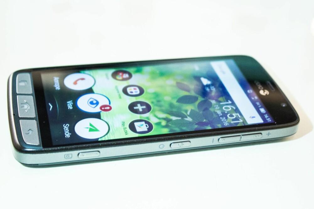 SMART: Doro Liberto 825 er en smarttelefon det vil være enkelt for mange å ta i bruk.