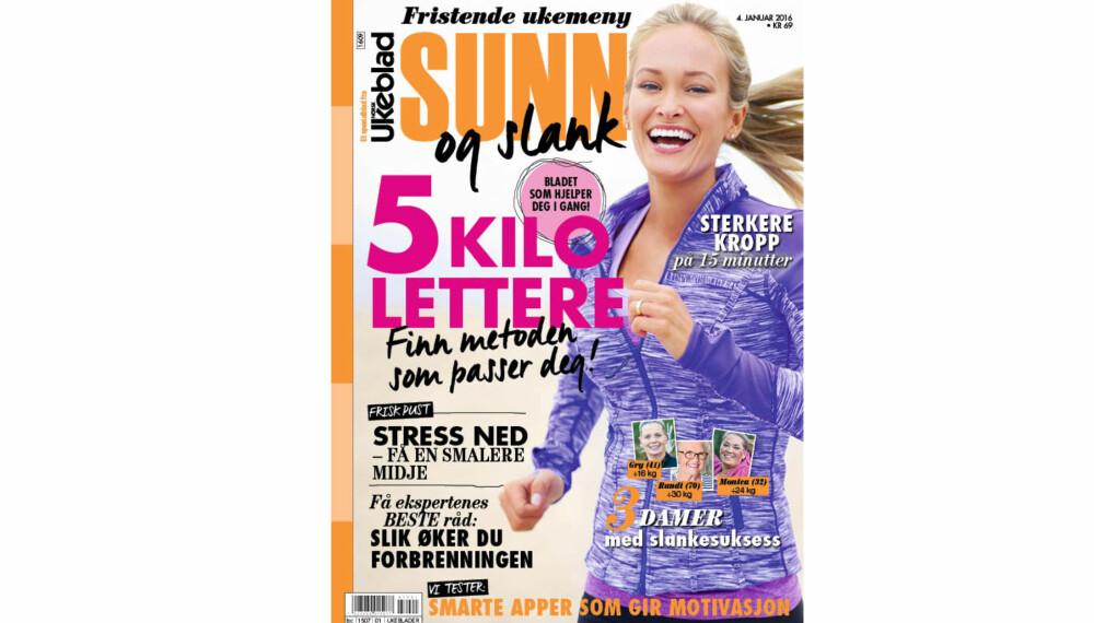 NYTT BLAD: Deilige, sunne matoppskrifter, artige treningsøvelser og mengder av supre tips finner du i det nye bladet fra Norsk Ukeblad. I salg nå!