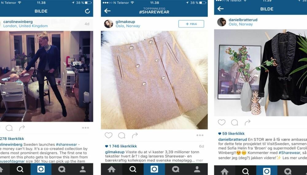 DISSE PLAGGENE KAN BLI DINE: Kjendiser, stilikoner og mote- og skjønnhetsbloggere deler nå ut gratis klær på Instagram - mot at du deler dem videre etter en uke.