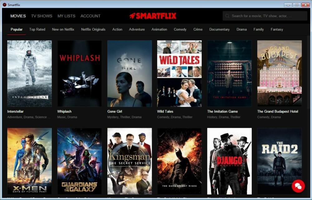 FLERE FILMER: Med Smartflix får du tilgang til alle filmene som finnes på Netflix, uansett hvilket land du er i.