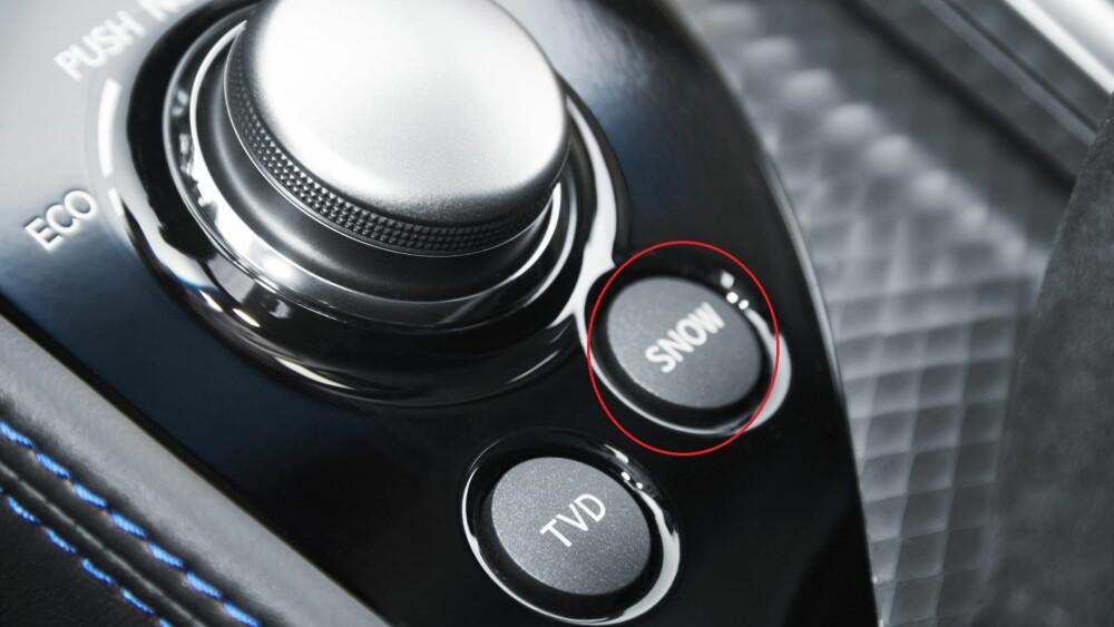 SNØ: Lexus GS F har eget kjøreprogram for snø, som blant annet justerer ESP-en.