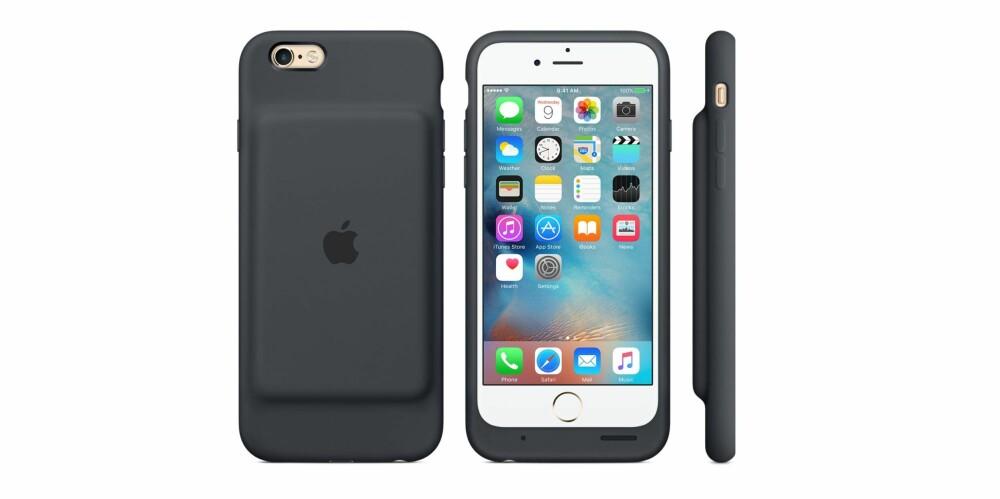 PRAKTISK: Et batterideksel kan være praktisk, men Apple måtte tåle kritikk for at Smart Battery Case for iPhone ikke var særlig lekker.