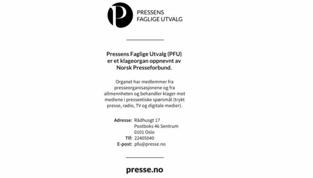 Pressens Faglige Utvalg (PFU) mener Det Nye brøt god presseskikk.