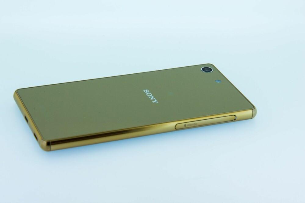 """GULL: Sony Xperia M5 kan du kjøpe i ulike farger - inkludert en i """"gull""""."""