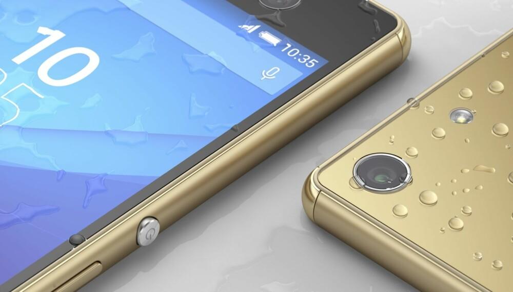 VANNTETT: Sony Xperia M5 er vanntett med en IP68-sertifisering.