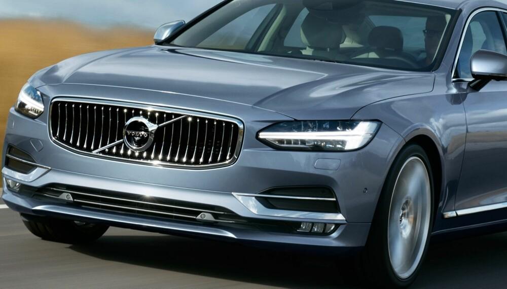 EN I REKKEN: Volvo S90 er andre modell ut i Volvos nye modellrekke. Om tre år er hele modellspekteret nytt.