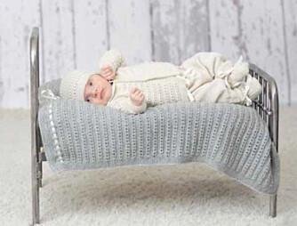 BABYTEPPE: Oppskriften på dette søte babyteppet få du gratis her på Familien.no