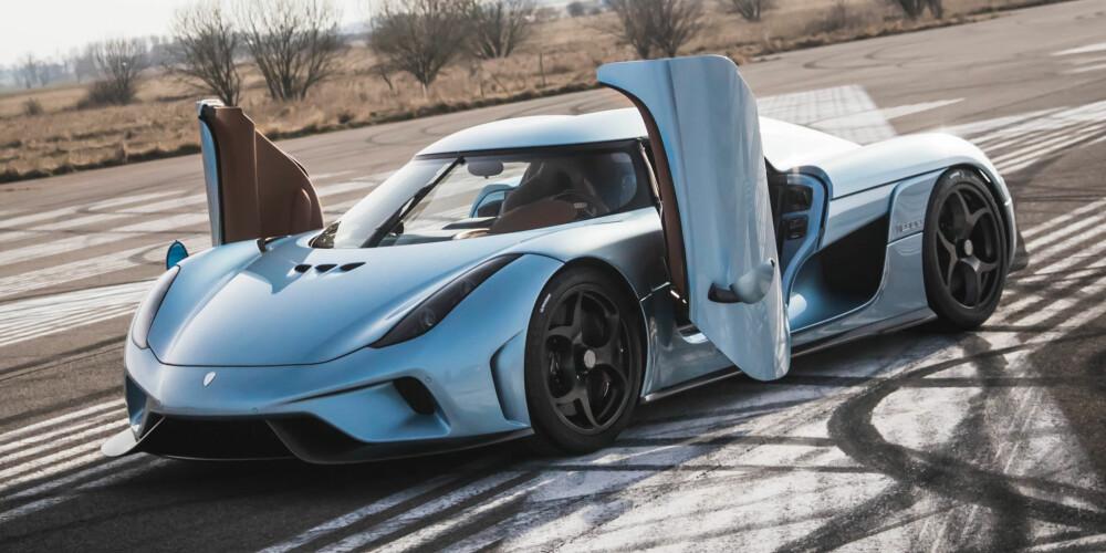 EGG: Koenigsegg Regera har en hybrid drivlinje, men ikke tradisjonelle forstand. Den har Koenigseggs egenutviklede Koenigsegg Direct Drive Transmission (KDD) der forbrenningsmotoren er direktekoblet til bakhjulene. Den har ingen tradisjonell girkasse, men ytelsene er i høyeste grad til stede. Systemet produserer over 1500 hk og et dreiemoment på 2000 Nm. FOTO: Koenigsegg