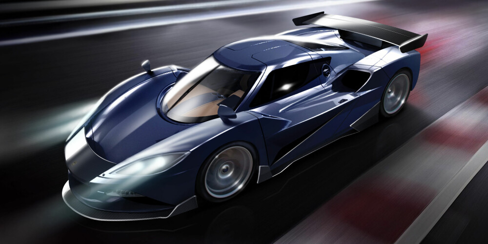 OVER 2000: Britiske Arash AF10 kan fås med forskjellige drivlinjer. Standard er en V8-er på 557 hk, men den kan også fås med et hybridsystem som yter over 2100 hk takket være en 6,2-liters V8-er og fire elektriske motorer, hver på 220 kW. FOTO: Arash Motor Company