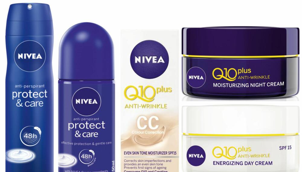 VINN SKJØNNHETSPLEIE: Nå kan du vinne disse 5 produktene fra Nivea.