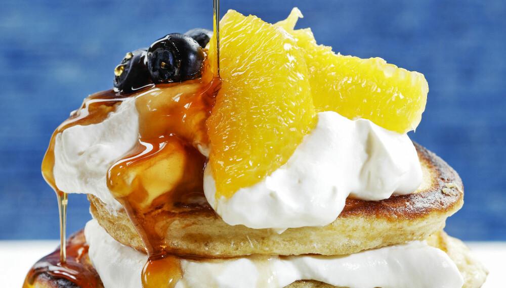 NAM: Med litt sirup attåt og ferske appelsiner, blir dette et himmelsk måltid!
