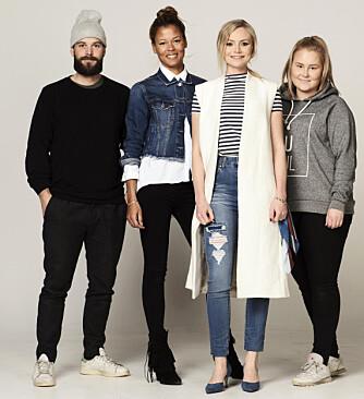 TEAMET (f.v.): Fotograf Lars Evanger, stylist Nadine Monroe, Kamille-modell Tone, og frisør og makeupstylist Christine Mellem.