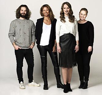 TEAMET (f.v.): Fotograf Lars Evanger, stylist Nadine Monroe, Kamille-modell Inger Helene, samt frisør og makeupstylist Christine Mellem.
