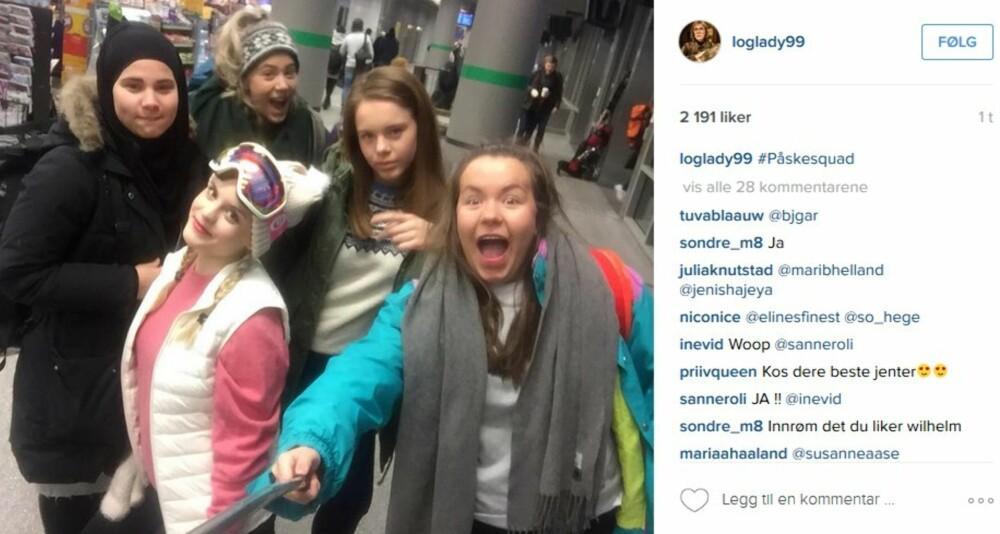 @loglady99 Noora Sætre fra Skam: #påskesquad Alle rollekarakterene i Skam har hver sin Instagram-profil.