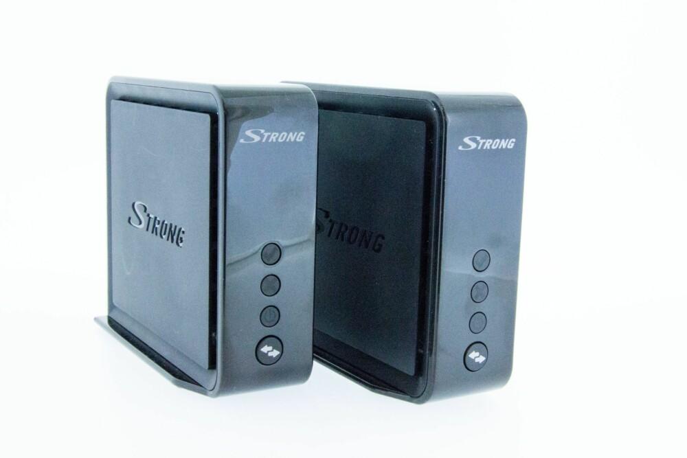 NETTVERK: Strong Connection Kit har to Ethernet-porter. Vi erfarte at vi fikk betraktelig bedre ytelse da vi bruke Ethernet-portene vs. kun en trådløs overføring.