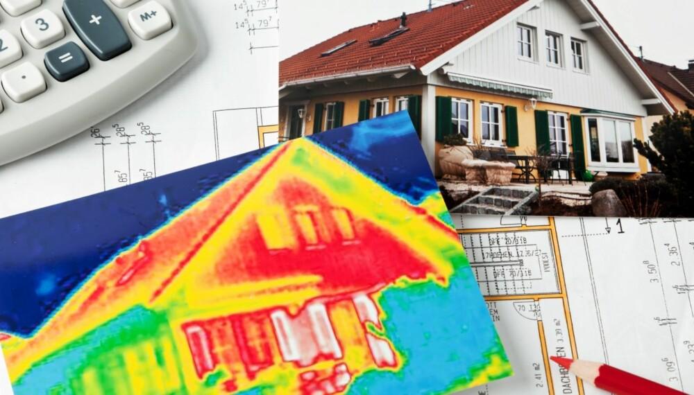 Termografering er en måte å påvise varmetap, og en god investering enten du bor i gammelt eller nytt hus. BILDE: Colourbox