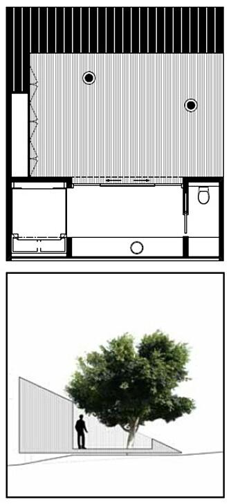 Tegningene viser hva arkitekten tenkte med hagehuset til Steinar.