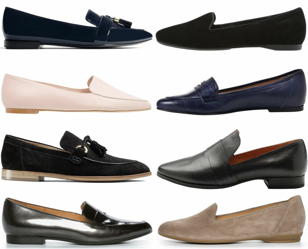 ULIKE VARIANTER (ø.f.v.): Zara, kr 259. Vagabond, kr 759. Zign/Zaland.no, kr 699. Front Society, kr 1300. Eurosko, kr 1699. Bianco, kr 799. Ecco, kr 1299. Nilsson Shoes, kr 999.