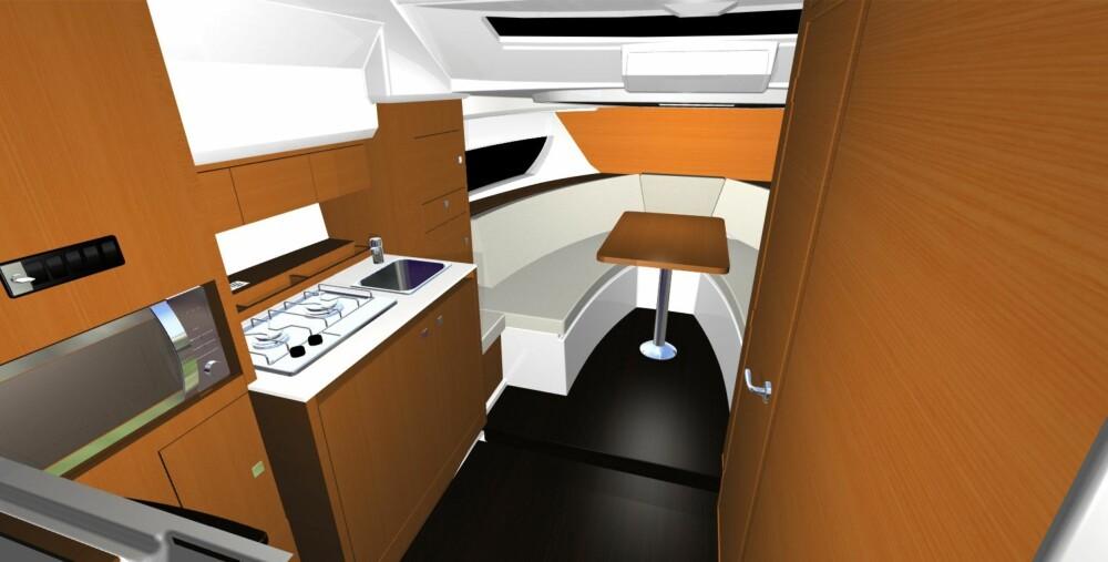 TO ROM: To rom, kjøkken og toalett. Plassen under dekk er overraskende god.