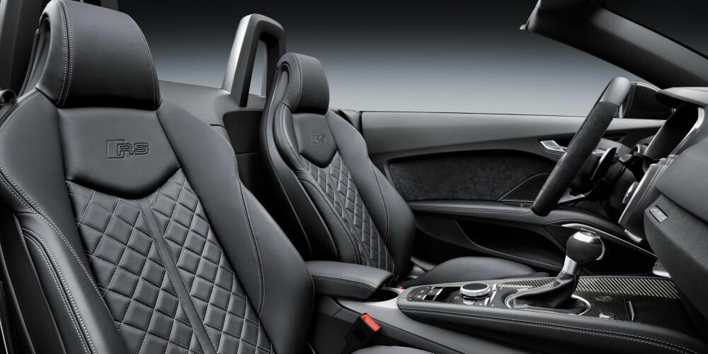 ORKAN I HÅRET: I TT RS Roadster er du sikret masse vind i håret. 400 hestekrefter sørger for en 0-100-sprint på kun 3,9 sekunder. Svosj!