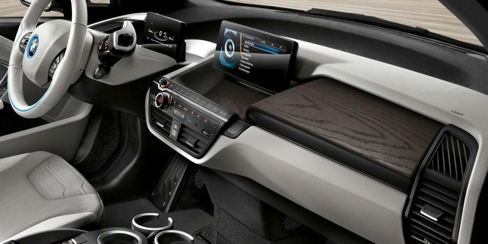 ANNERLEDES: i3 ligner ikke på noen annen elbil på markedet. BMW fortsetter med den strategien i nye i3. Rekkevidden øker fra 190 til 300 kilometer.