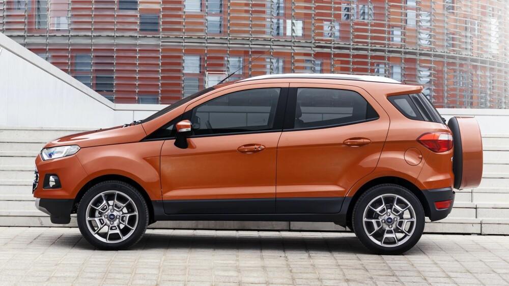 DROPPET: Ford EcoSport kommer uten reservehjul på bakluken. FOTO: Ford