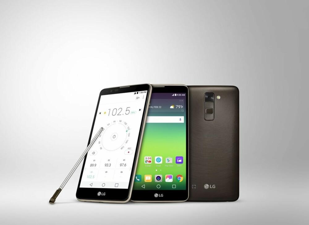 STYLUS: LG Stylus 2 har fått plass til pennen inne i mobilkroppen. Når pennen tas ut aktiveres en hurtigmeny. Det gjør at man raskt kan ta et notat eller lage en skissetegning.